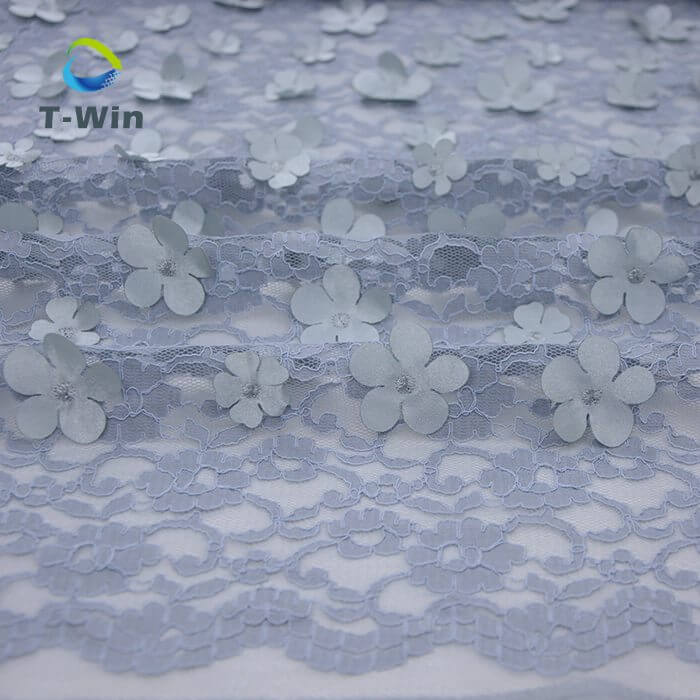 Embroidery 3D Flower Lace Fabric