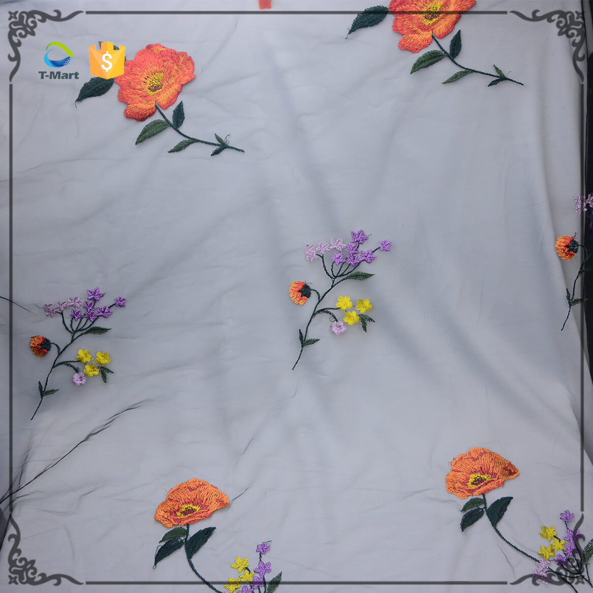 Embroidery Mesh fabric Factory