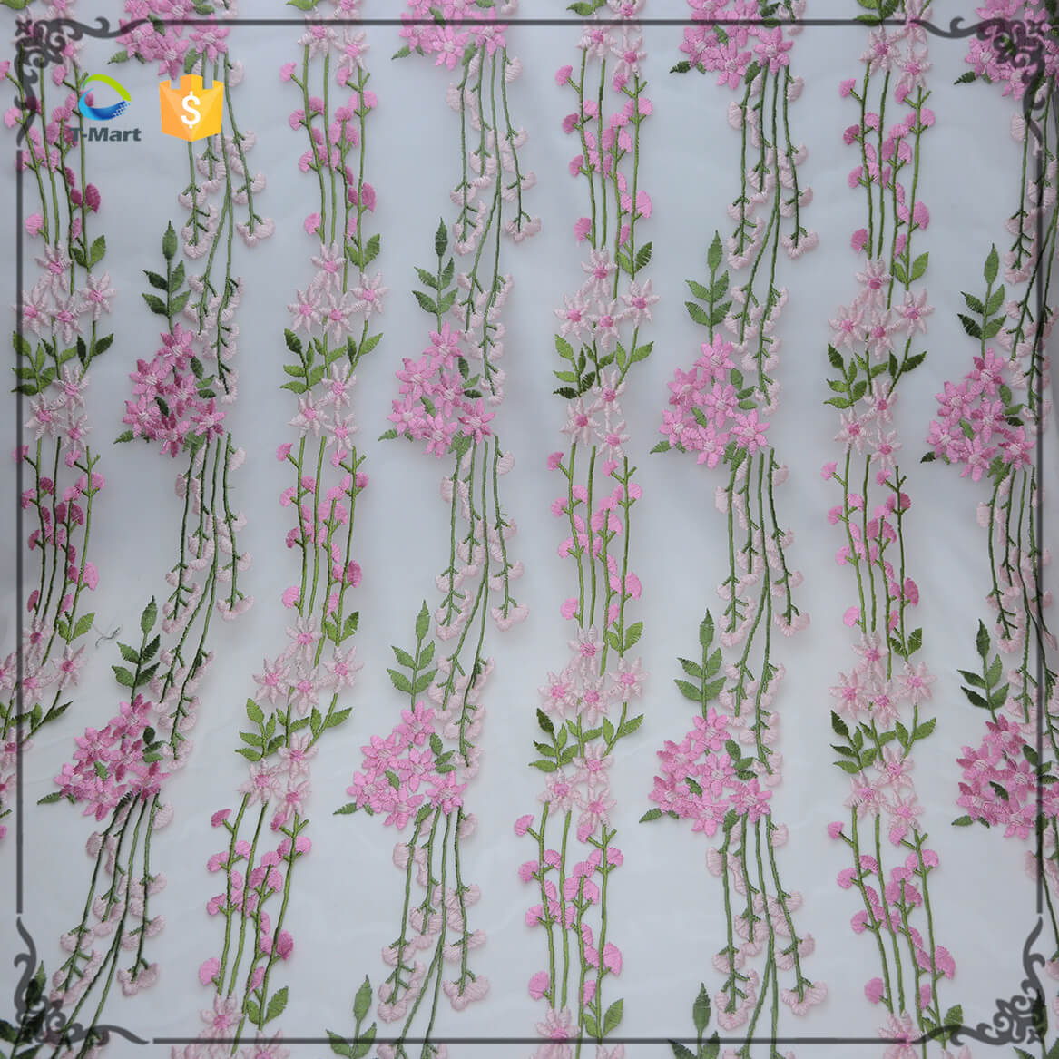 Embroidery lace fabric Factory mesh fabric for women