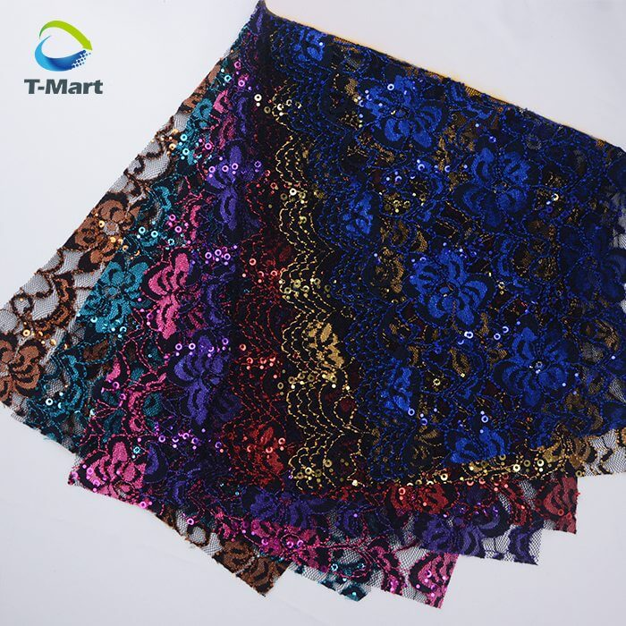 Sequin Lace Fabric factory