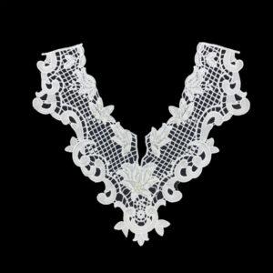 guipure lace neckline