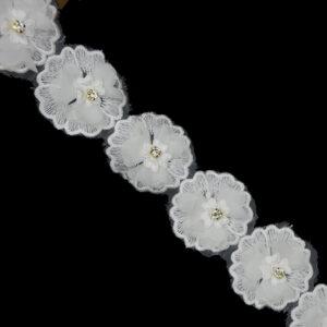 pearl lace trim