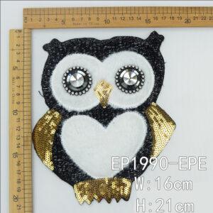 Owl cartoon patch