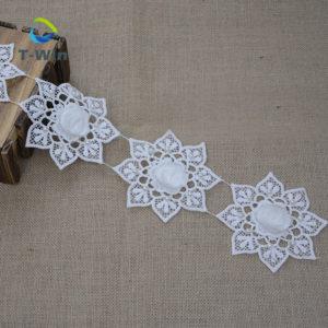 Pearl Lace Trim 3D Design Milke Yarn Material Textile Accessory