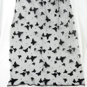 black guipure tulle textile lace fabric