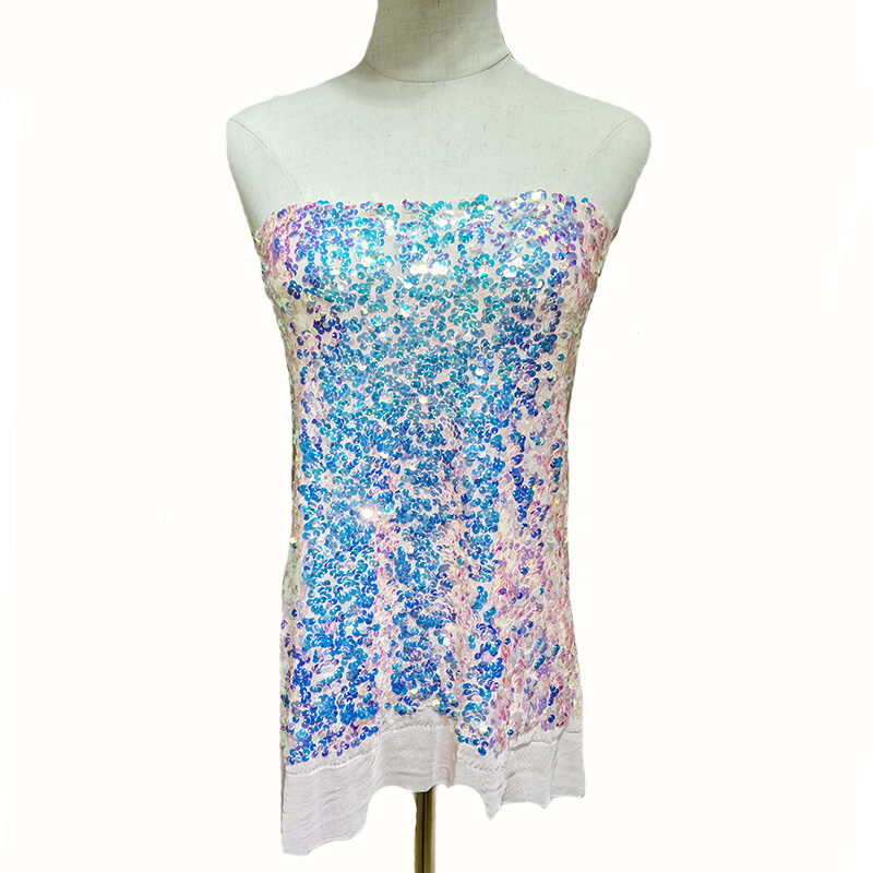 sequin net embroidery