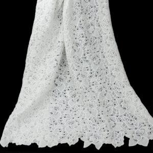 wavy design guipure lace
