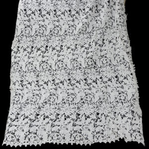 white color guipure lace fabric