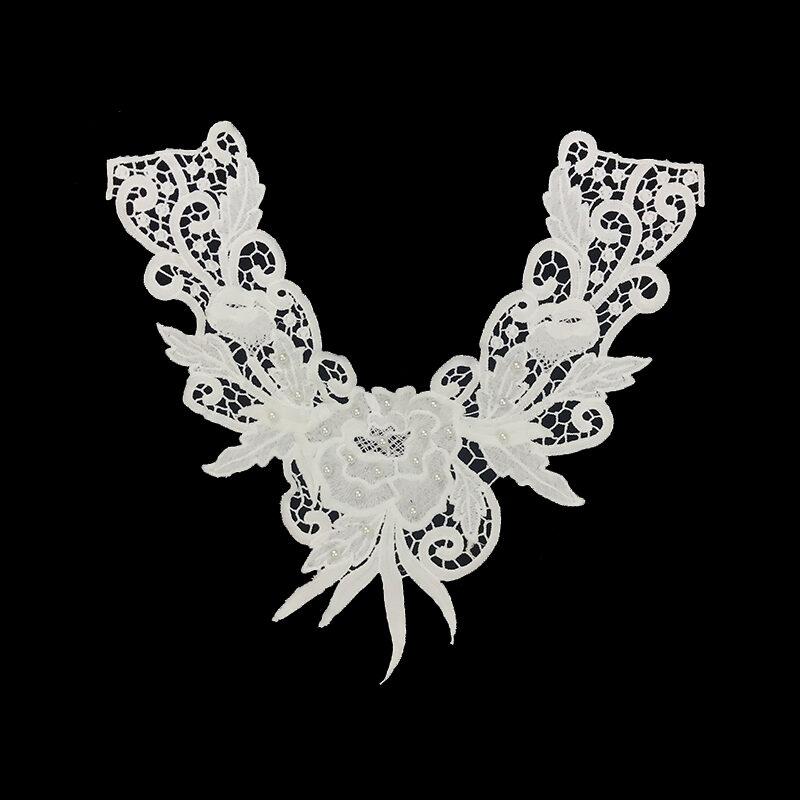 guipure lace collar