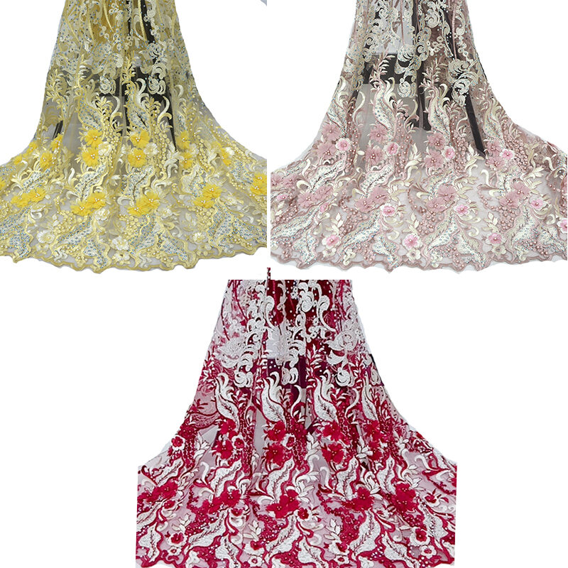 3D embroidery lace fabric