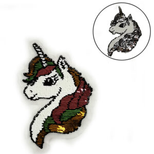 unicorn sequin embroidery patch
