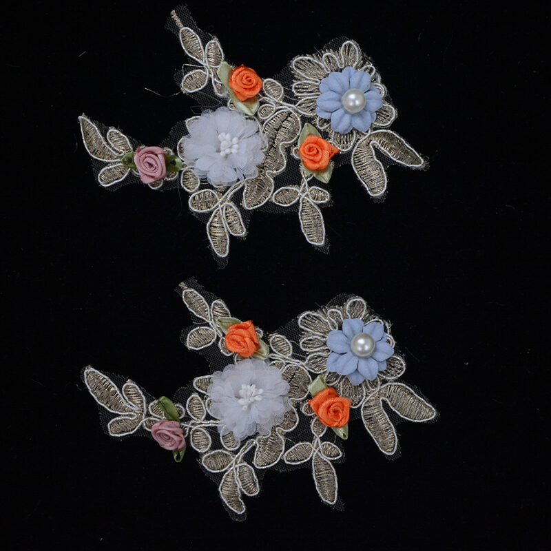 no beaded colorful embroidery flower
