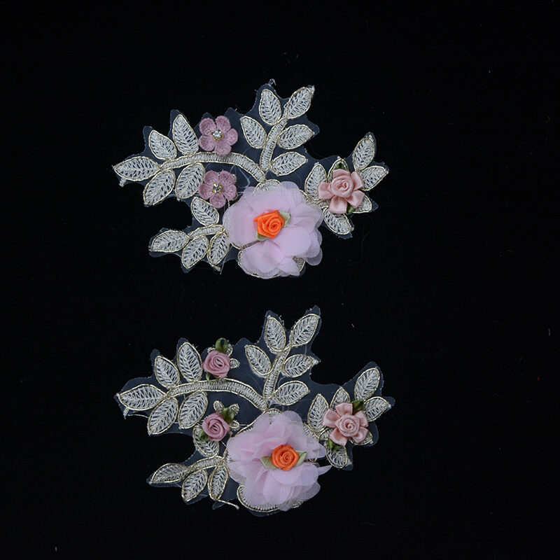 colorful embroidery flower