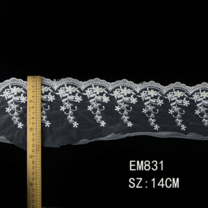 gold thread mesh Lace Trim