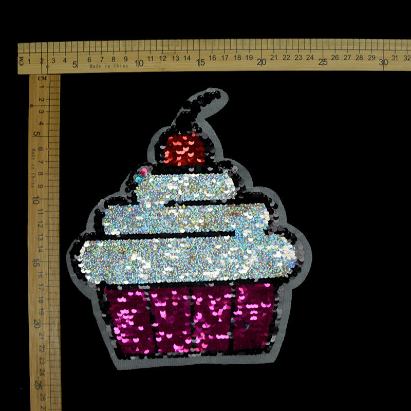New Design Ice-cream Reversible Patch Sequin Accessories