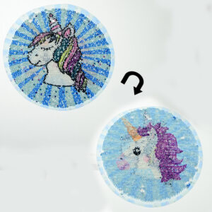 fashion unicorn sequin patch