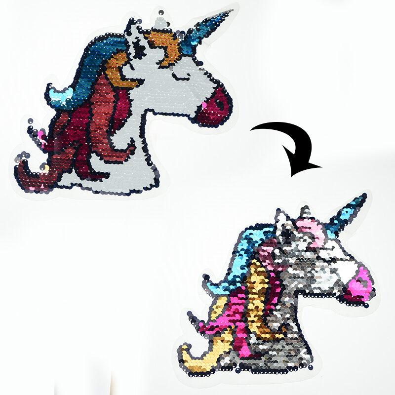 unicorn sequin patch applique