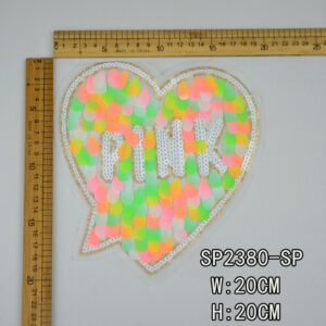 heart design sequin patch