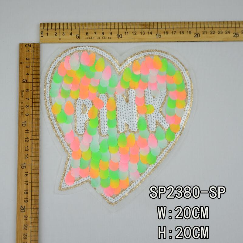 heart design sequin patch