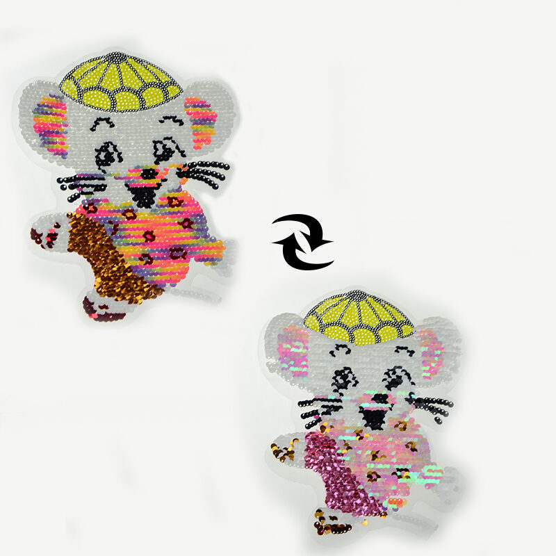 animal sequin patch