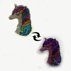 unicorn design sequin patch