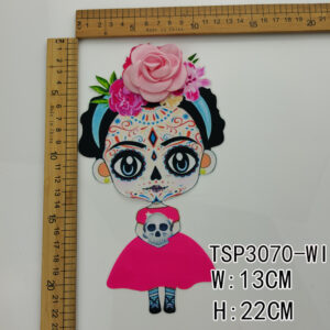 3d lovely girl shirt patch