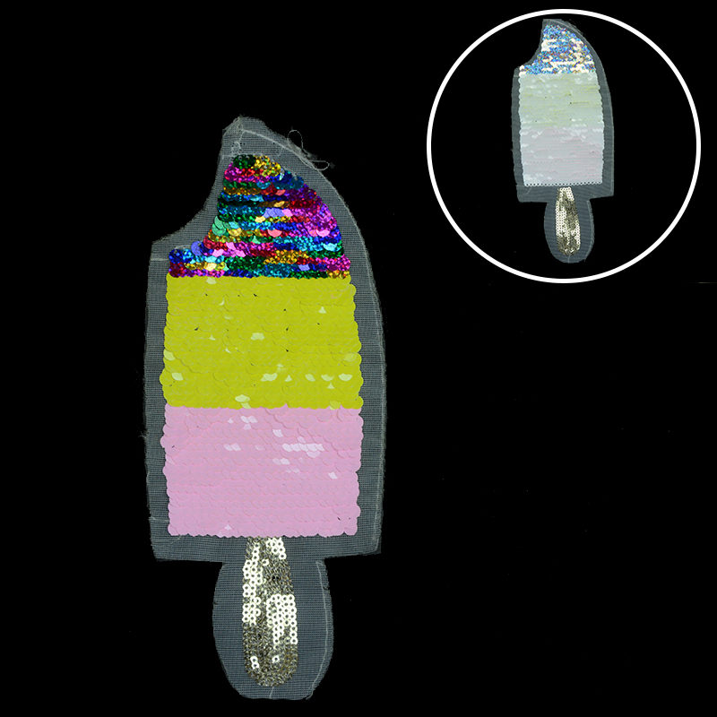 Hot Selling Ice-cream Patch Reversible Sequin For Garment