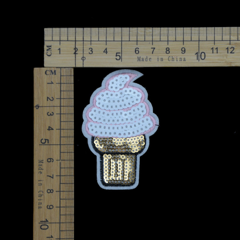Shiny Cute Ice-cream Sequin Patch Fashion Accessories For Garment