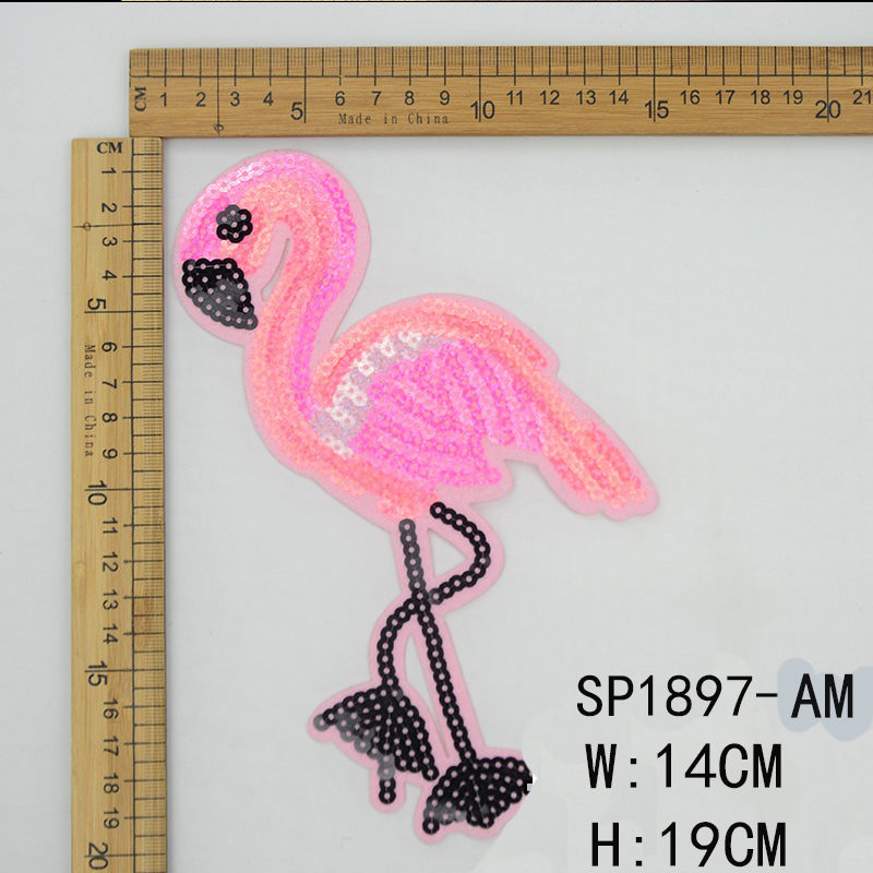 Flamingo Sequin Patch
