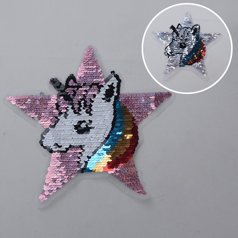 Unicorn Reversible Sequin Patch Fashion Accessories For Garment