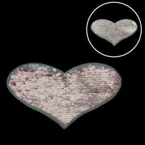 Pink Heart Sequin Patch Fashion Accessories For Garment