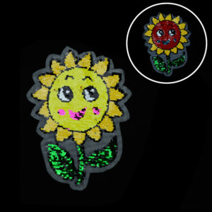 sunflower reversible sequin patches