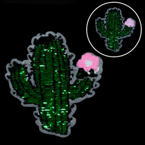 Cactus Sequin Patch Fashion Accessories For Garment