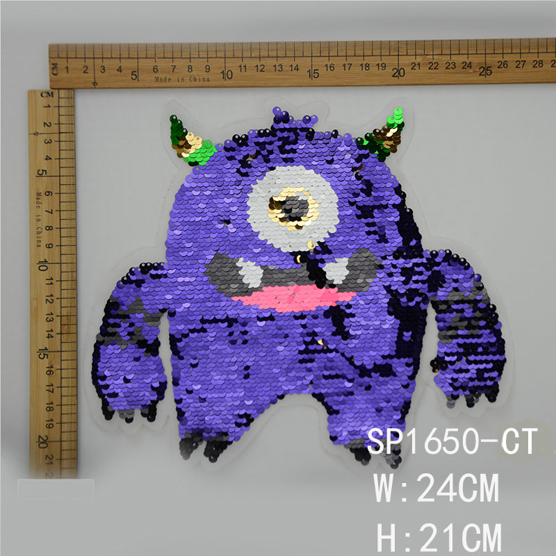 Monster Sequin Patch Accessories For Garment ,the best manufacturer in China Guanhzhou,high quality and wholesale price for customers