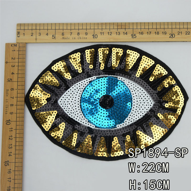 Eye Sequin Patch Accessories For Garment ,the best manufacturer in China Guanhzhou,high quality and wholesale price for customers