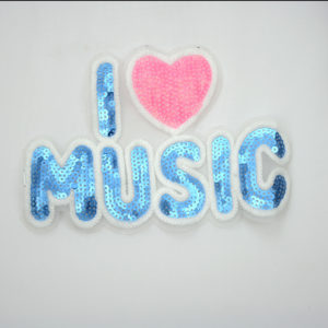 Music Letter Sequin Children Patch For T-shirt 2020 Latest Children PatchFor T-shirt