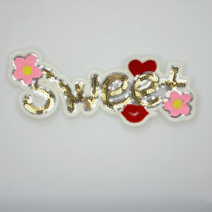 Letter Sequin Children Patch