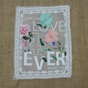 3D Flowers Guipure Patch