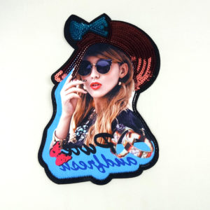 2020 3D Young Girl Printed Patch Accessories Wholesale