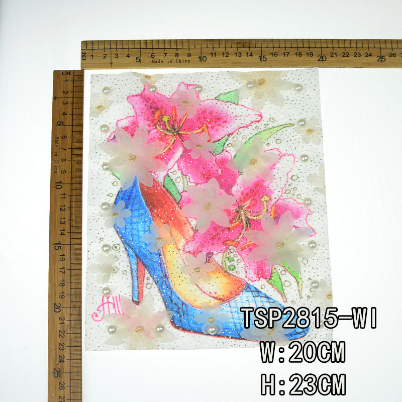 Shoe Mesh Printed Patch Fashion Accessories 2020 Chinese Wholesale