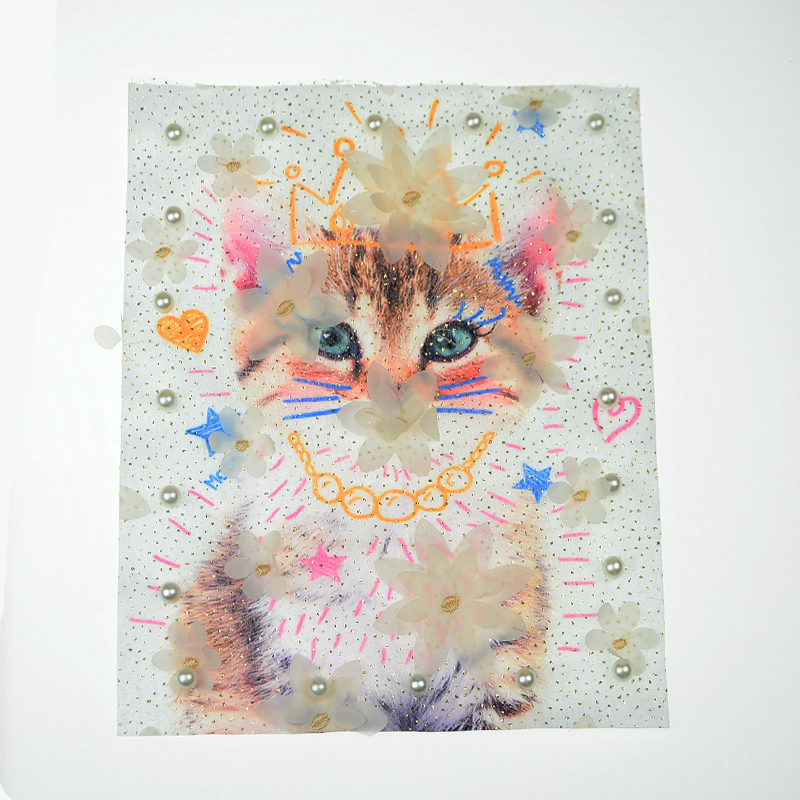 Cat Mesh Printed Patch Accessories Wholesale 2020 Hot Selling 3D