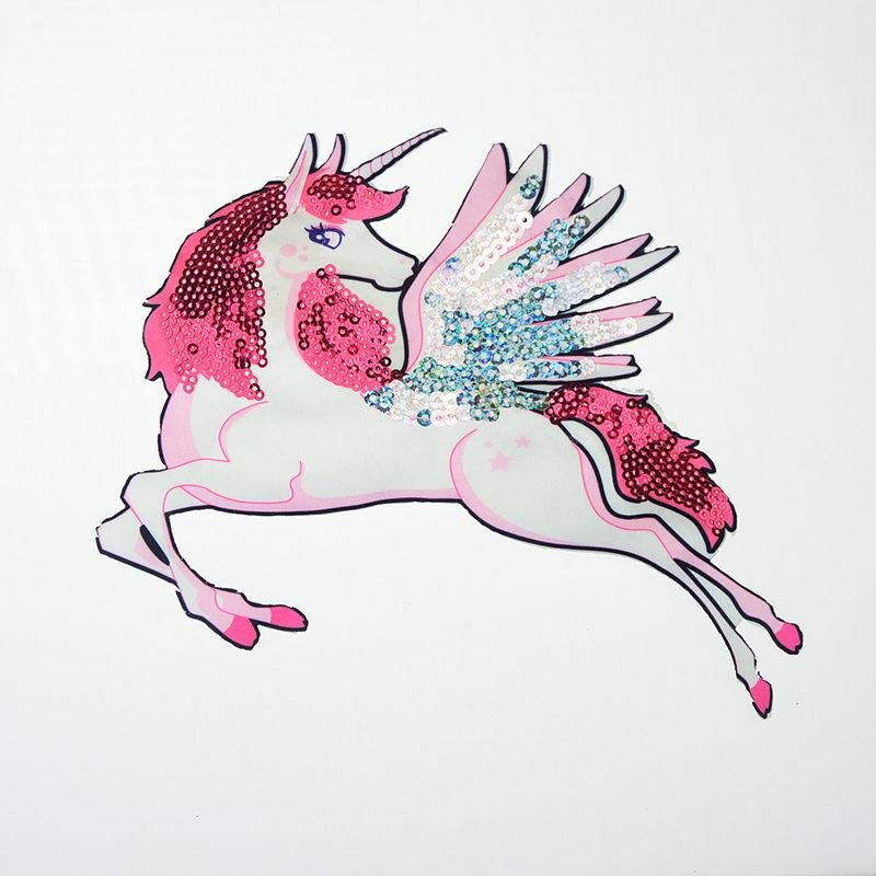 Unicorn Sequin Printed Patch Wholesale 2020 Textile Accessories