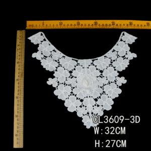 Collar de encaje guipur 3D