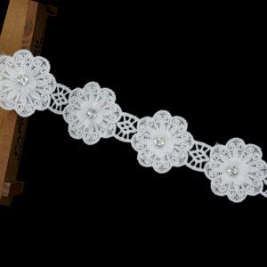 Ribete de encaje de guipur 3D