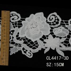 CT-4417 Ribete de encaje de guipur 3D