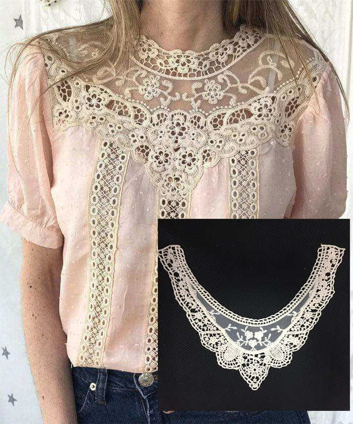 Guipure Lace Necklace