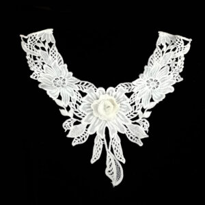 White guipure lace collar