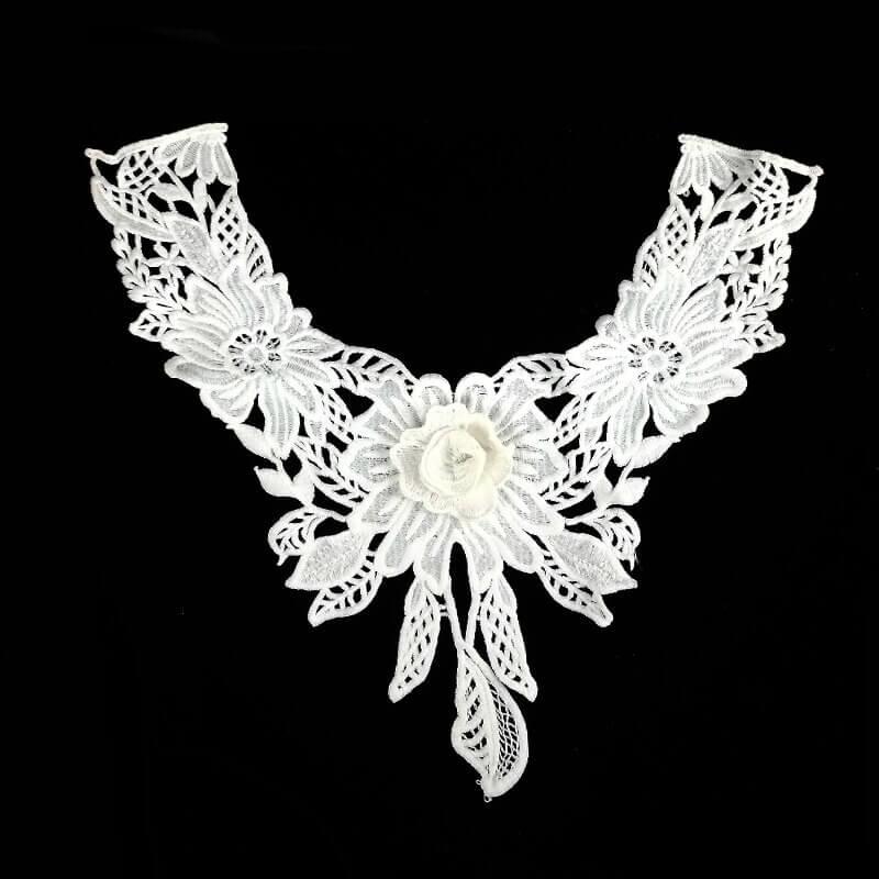 White guipure lace collar