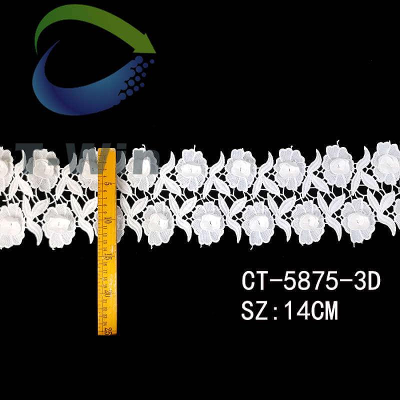 3D chemical lace trim